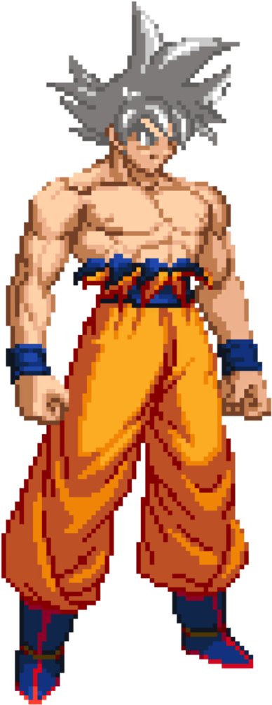 Download Hd Goku Pixel Art Dragon Ball Z Transparent Png