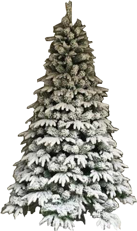 White Christmas Tree Png Transparent.Download Hd 7 Unlit Flocked White Christmas Tree
