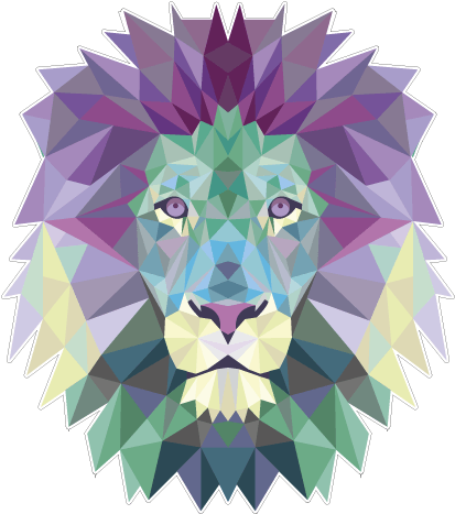 Download Hd Lion Polygon Poster Para Imprimir Leao Transparent
