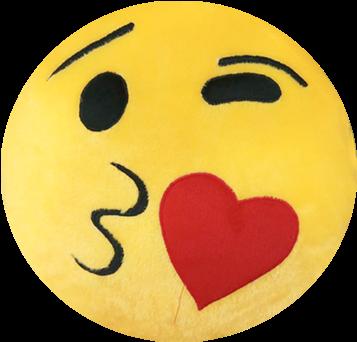 Download HD Personalized Love Emoji Cushion - Cushion Transparent