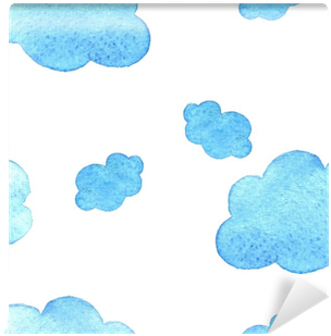 Download HD Blue Watercolor Clouds Background - Watercolor