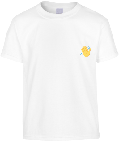 Download HD Wave Emoji T-shirt - T-shirt Transparent PNG Image