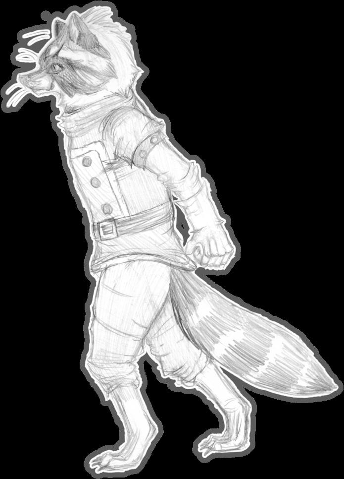 Download Hd Drawing Raccoon Sketch Rocket Raccoon Art Draw Transparent Png Image Nicepng Com