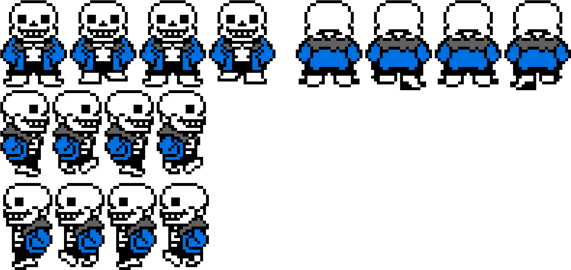 Download HD Sans Walking Sprite Sheet - Sprite Sans Rpg Maker Mv