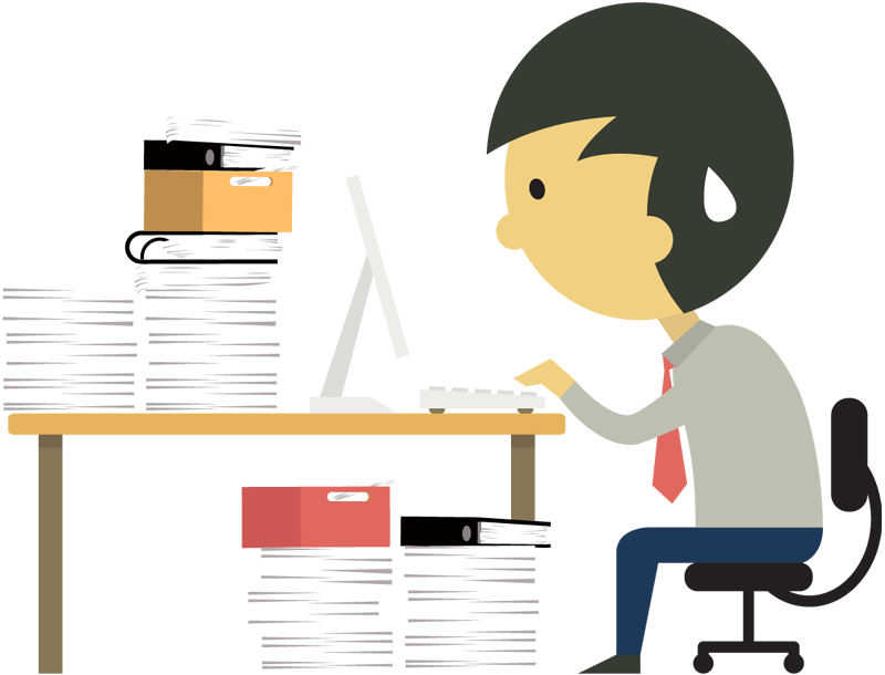 Download Hd Businessman At Desk Png Images Cartoon Toil Too Much Work Png Transparent Png Image Nicepng Com