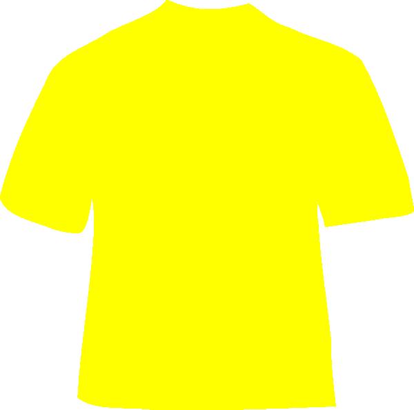 Download Hd Yellow Shirt Clip Art At Clker Plain Yellow T Shirt Back Transparent Png Image Nicepng Com