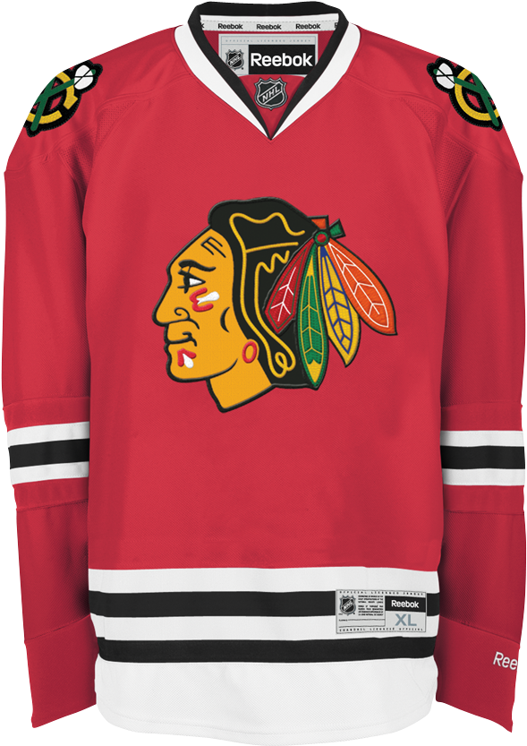half off 9254d 3e6e0 Image Blackhawks - Home Reebok Transparent Nicepng Chicago ...