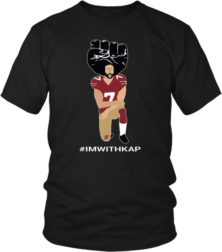 Download HD Kneeling Colin Kaepernick