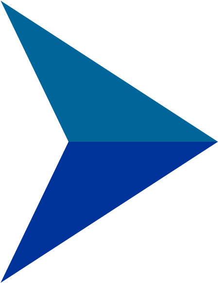 Blue Shaded Arrow - Arrow Bullets Icon Png (454x600), Png Download