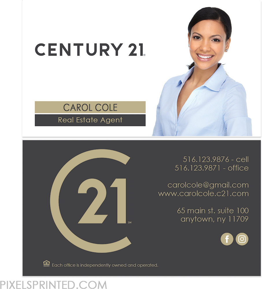 Download Hd New Century 21 Logo Cards Century 21 Business Cards