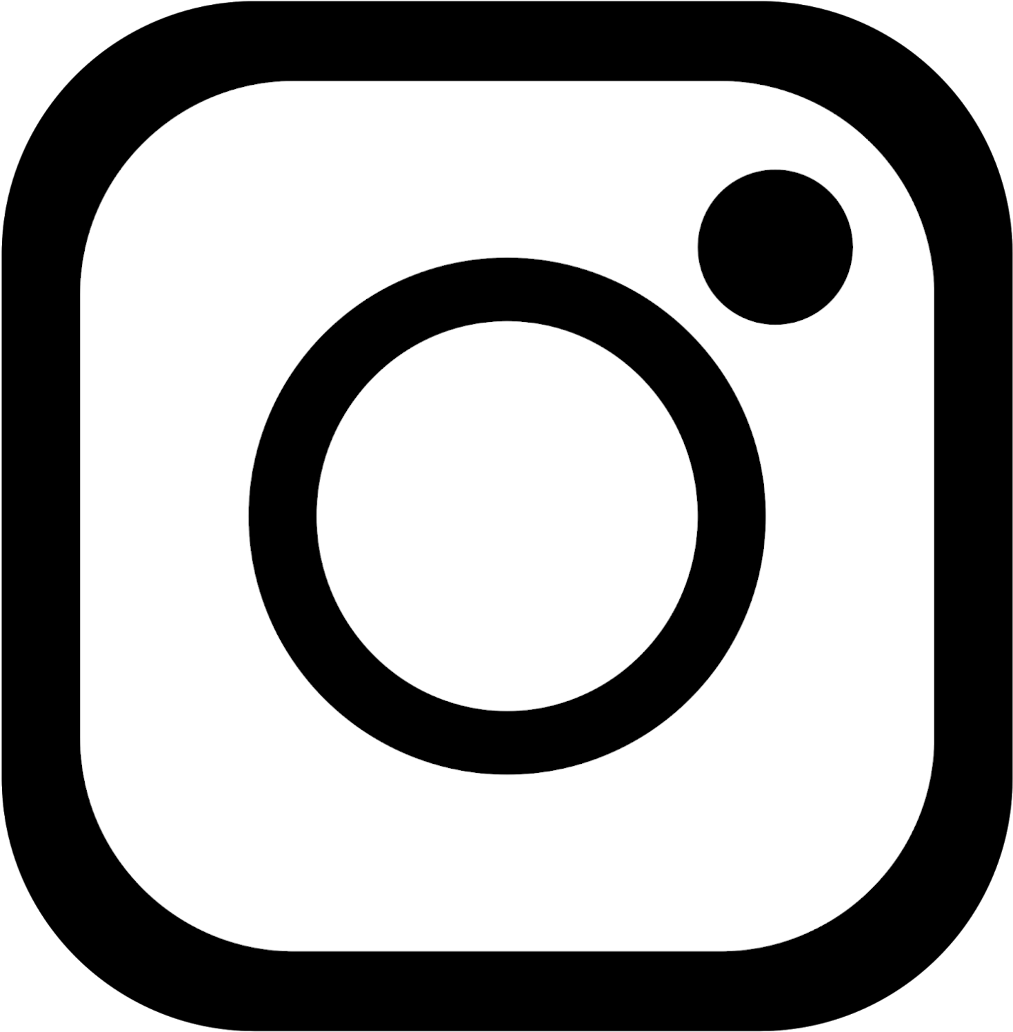 Instagram Logo Black Borders Png Transparent Background - Instagram Logo Black With Transparent Background (1576x1576), Png Download