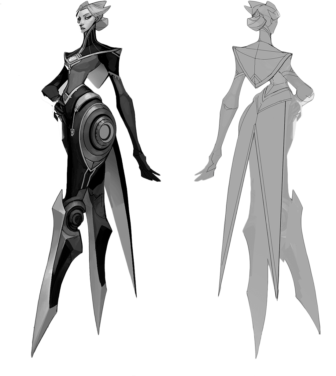 Download Hd Camille Sketch League Of Legends Human Camille Transparent Png Image Nicepng Com