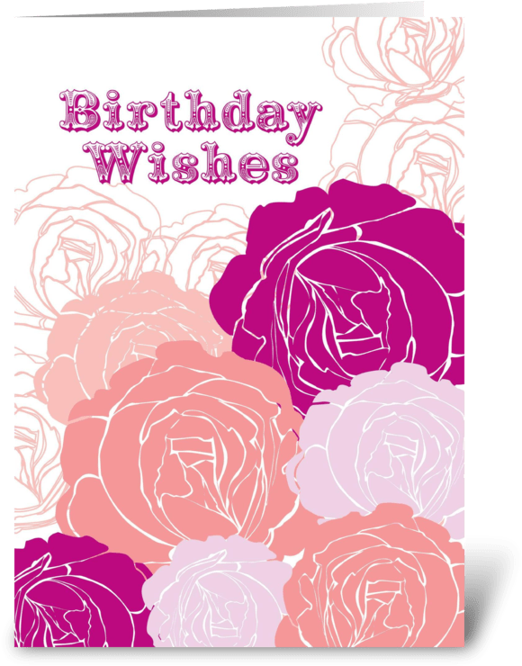 Download HD Rose Birthday Wishes Greeting Card - Greeting