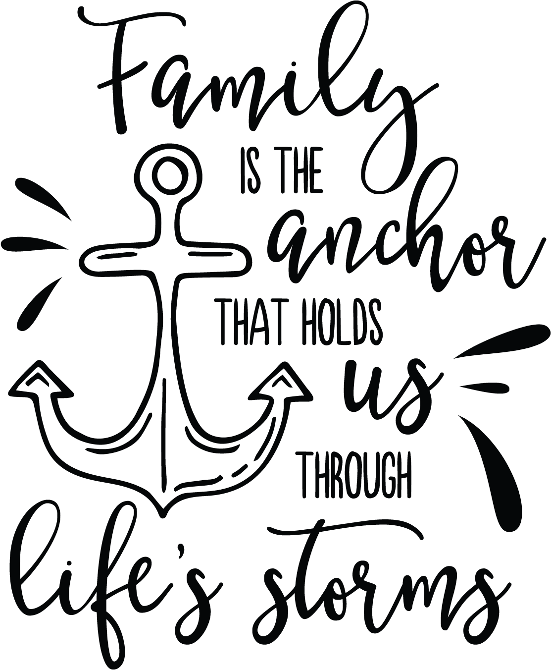 Download Hd Quotes Vector Faith Family Is The Anchor That Holds Us