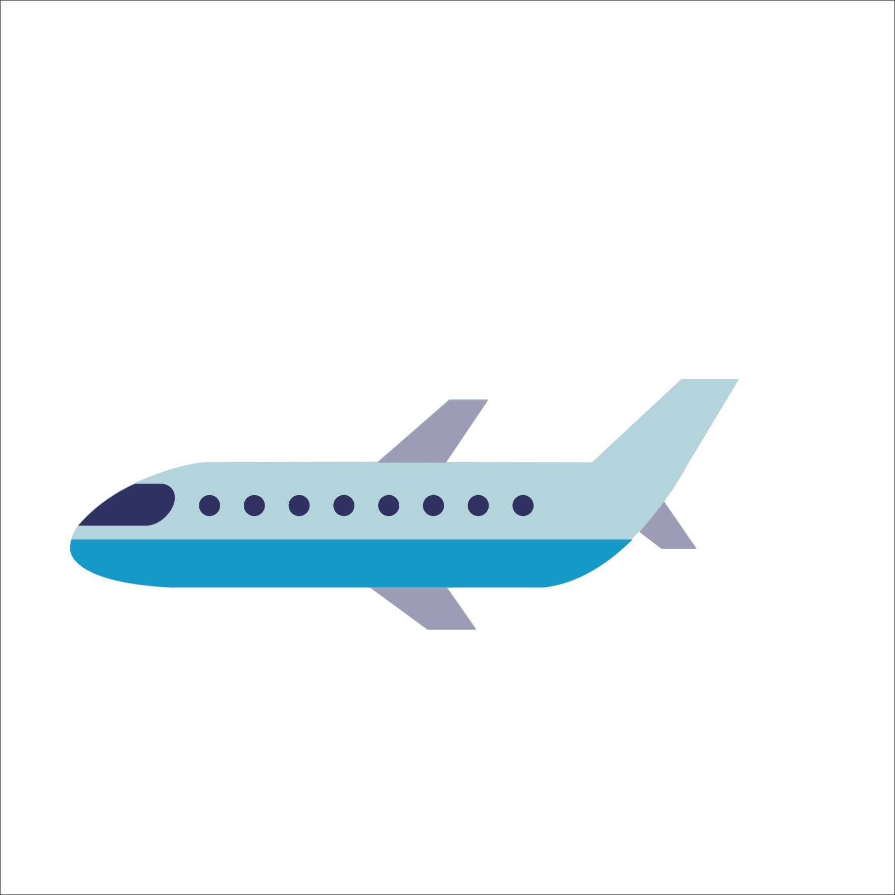 Download Hd Aircraft Vector Blue Airplane Cartoon Airplane Png Transparent Png Image Nicepng Com
