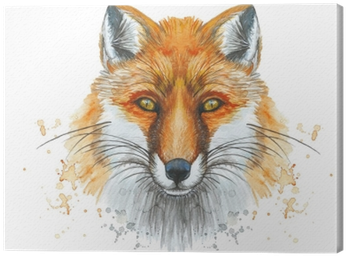 Download Hd Painted With A Watercolor Drawing Of A Red Fox The