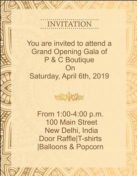 Download Hd Ethnic Golden Border Portrait Invitation Card