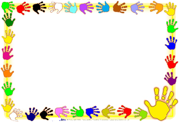 Download HD Kids Background Frame Png - Handprint Page