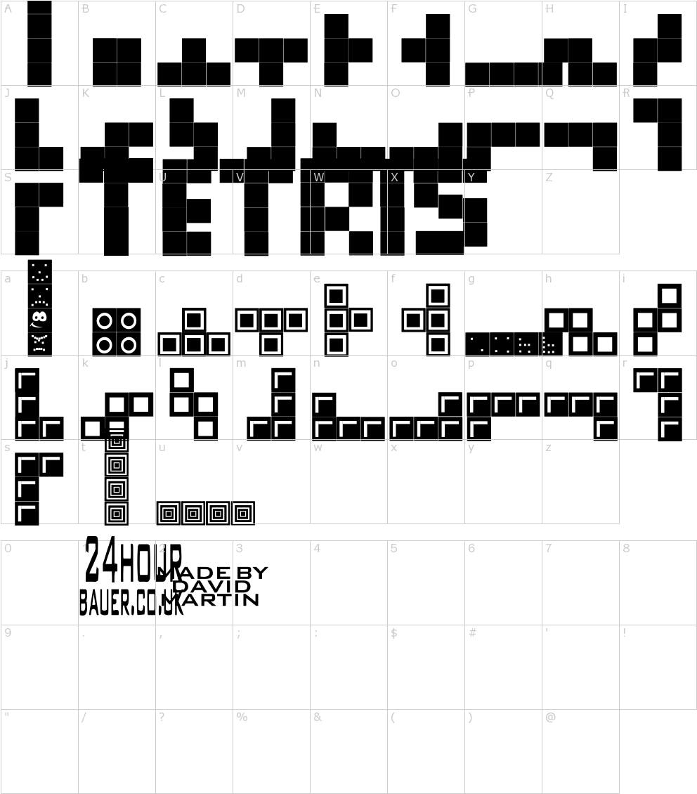 Download HD Tetris Blocks Font - Tetris Text Generator