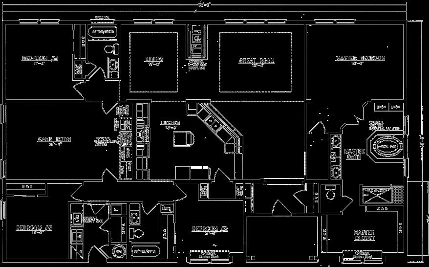 Download Hd Home Floor Plan 5 Bedroom Barndominium Floor Plans Transparent Png Image Nicepng Com