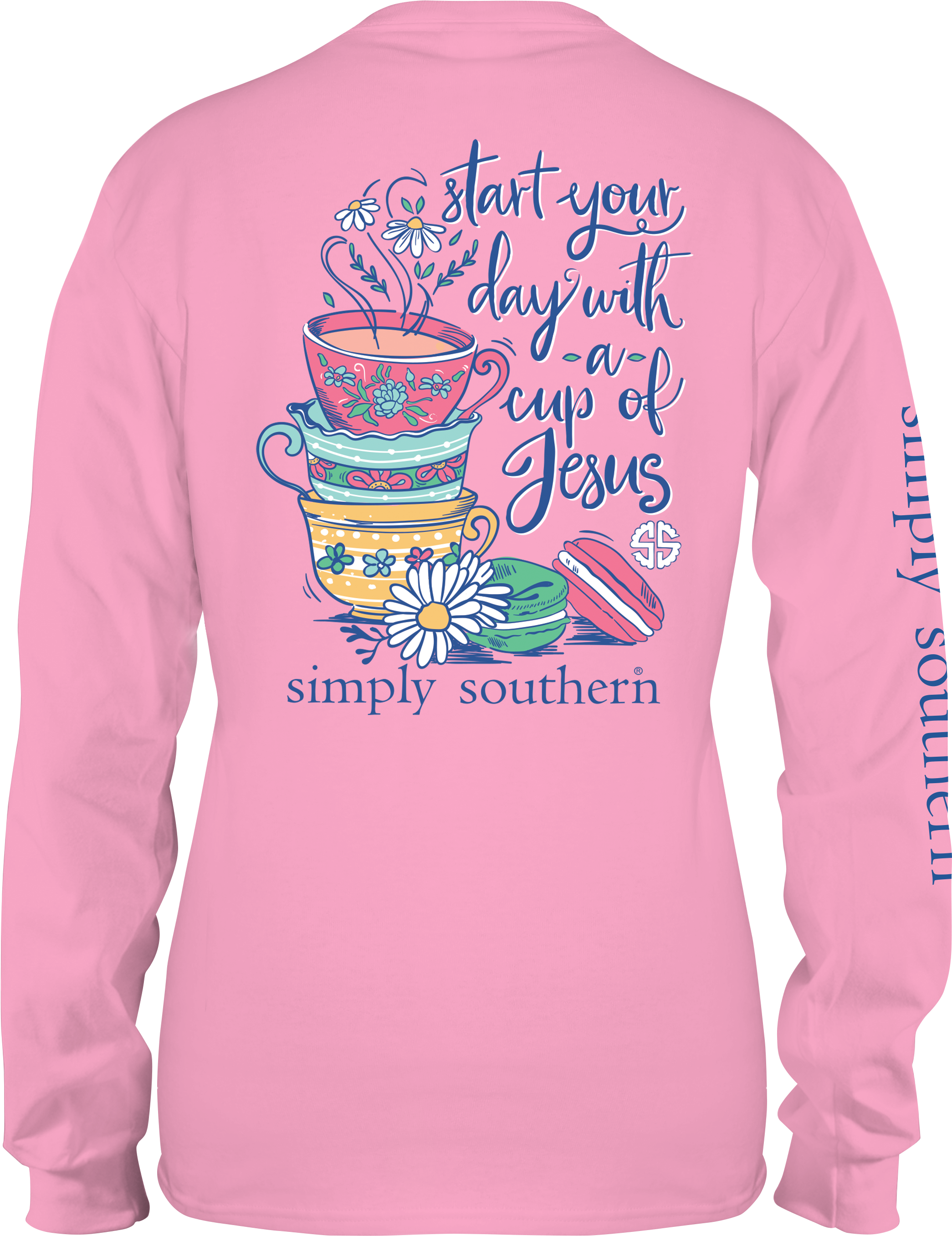 Download Hd Long Sleeve T Shirt Template Png Simply Southern Long
