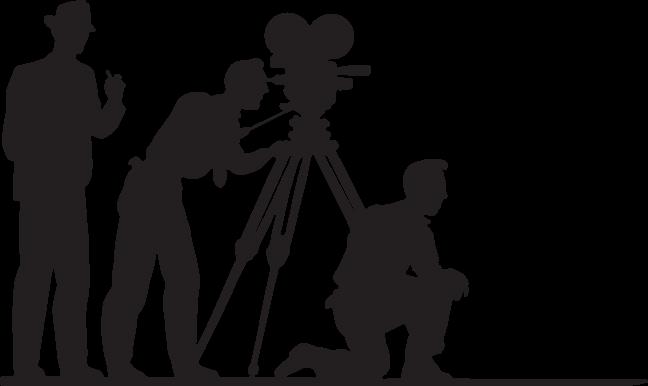Download HD Clipart Black And White Stock Camera Crew