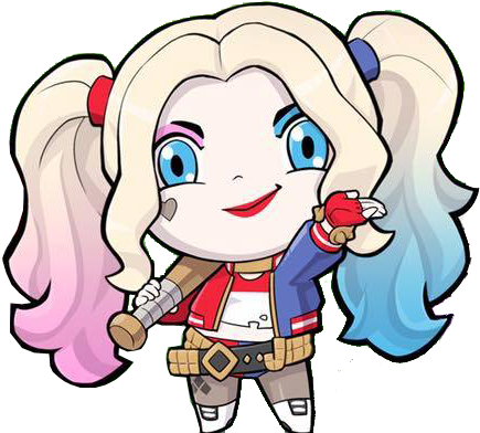 Download Hd Deluxe Joker Suicide Squad Wallpaper Harley Quinn Sticker Harley Quinn Chibi Sticker Transparent Png Image Nicepng Com