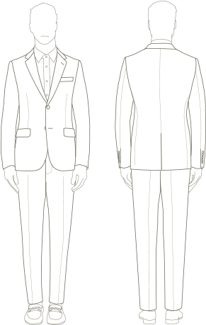 Download Hd Monaco Men S Suits Guide Sketch Transparent Png Image Nicepng Com