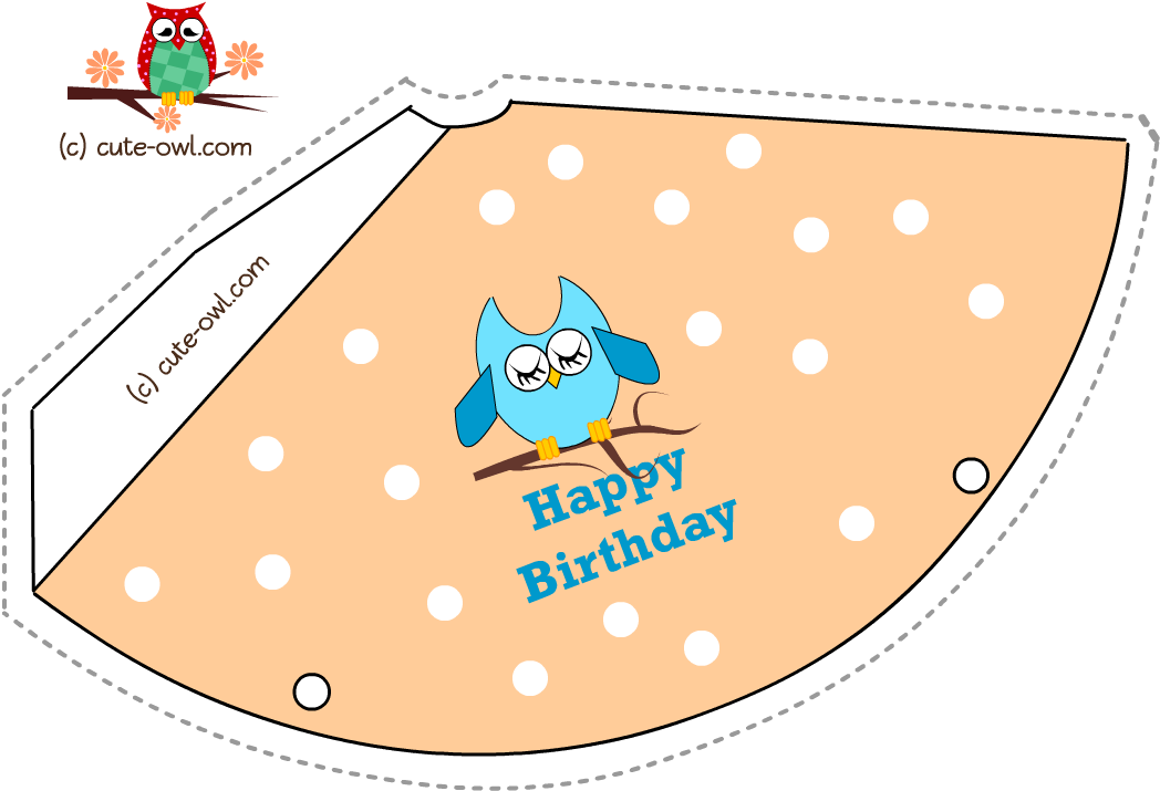 Download Hd Pink Owl And Polka Dots Birthday Party Hat Printable