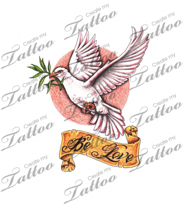 Download Hd Marketplace Tattoo Dove And Olive Branch Tattoo Dove