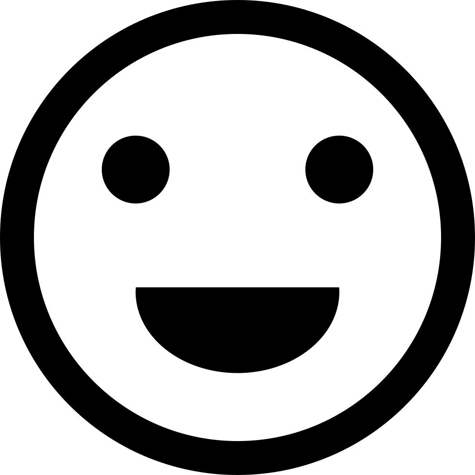 Download Hd Emoji Comments Smiley Noir Et Blanc Transparent Png Image Nicepng Com