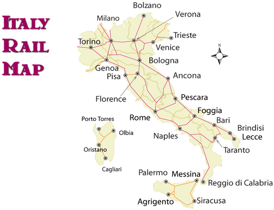 Train Routes In Italy Map.Download Hd Italy Train Route Map And Guide To How To Ride The