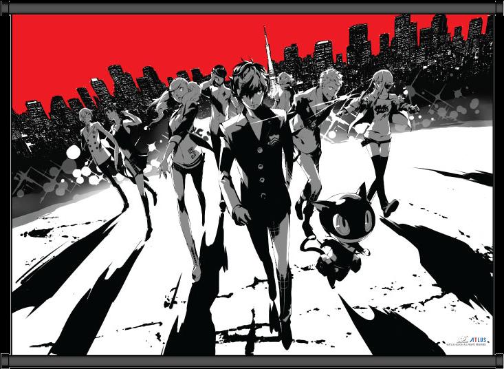 Download HD Cityscape Wallscroll - Persona 5 Steelbook