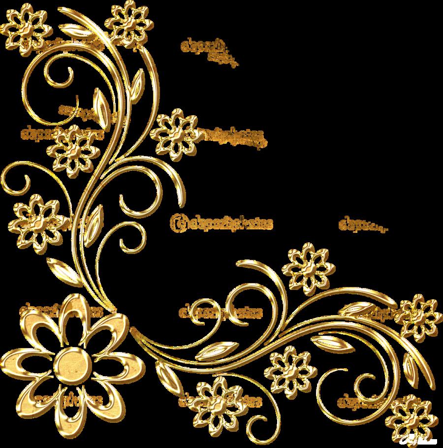 زخرف ذهبية Png