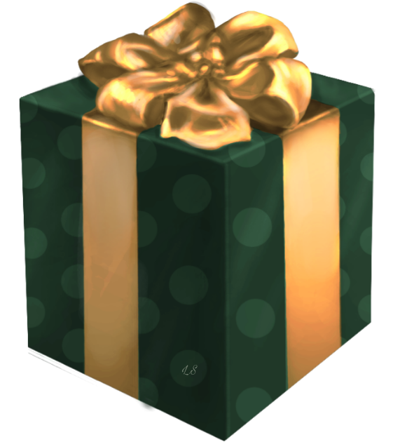 Download Hd Gift Giftbox Box Christmas Happybirthday Green Gold