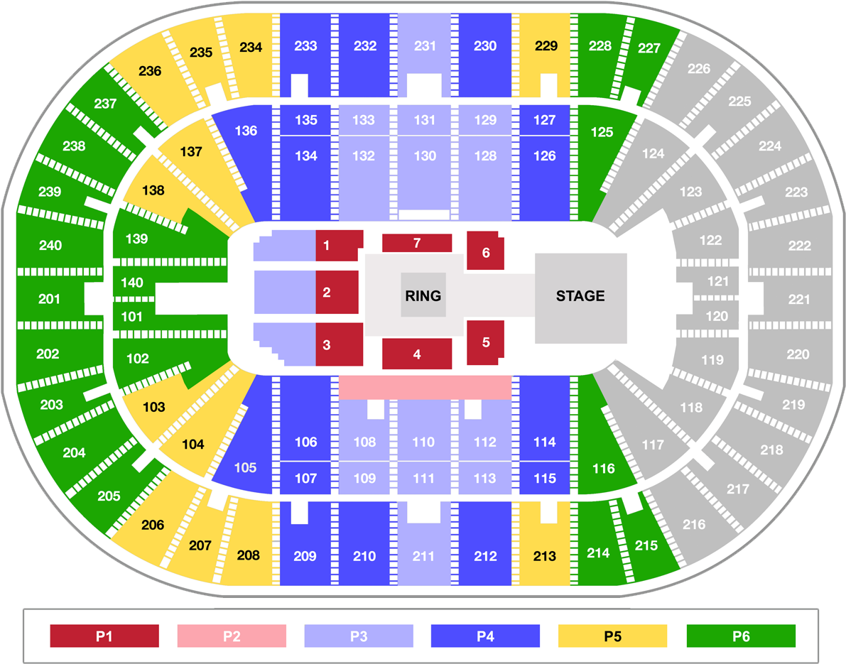 Hd Individual Tickets Us Bank Arena Wwe Seating Chart