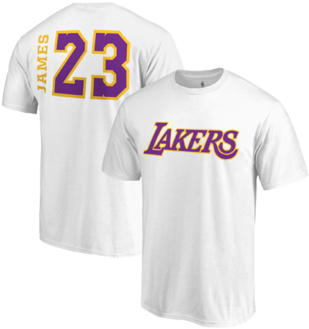 64cb895cb Los Angeles Lakers Lebron James Side Sweep Player V-neck - Lebron James  White Lakers
