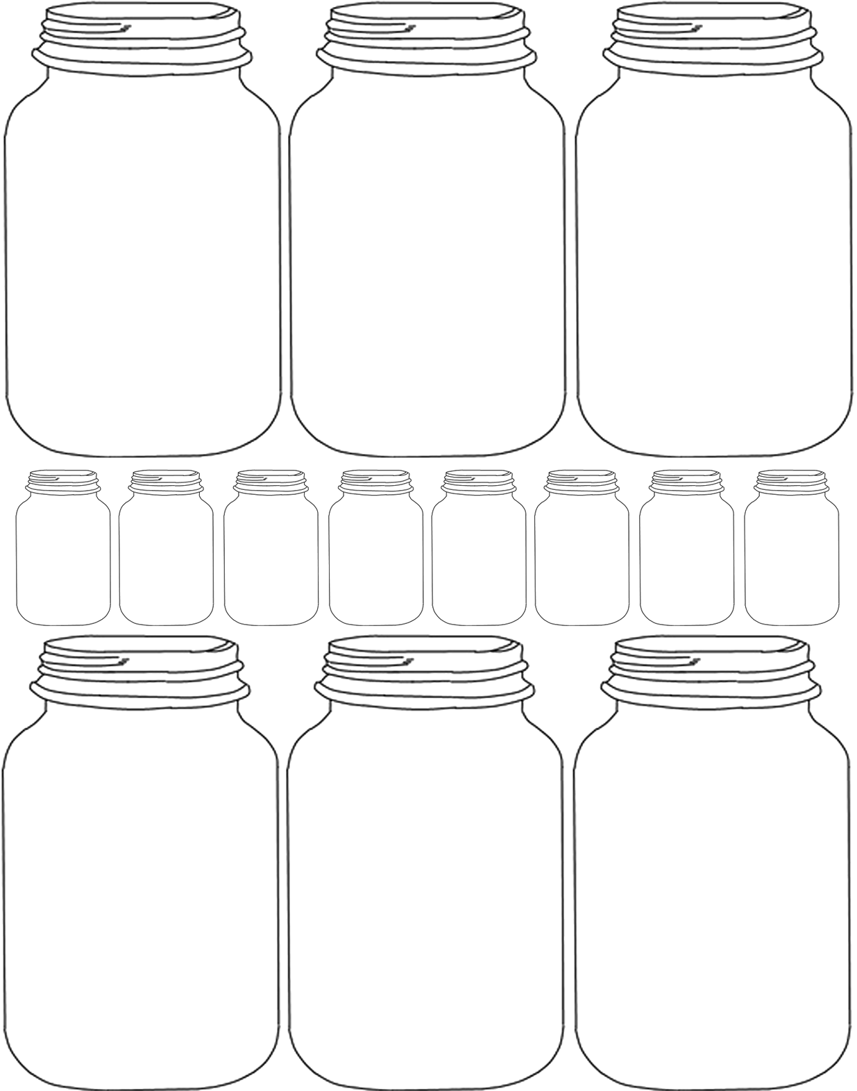 Download HD Mason Jar Clipart Transparent - Blank Mason Jar