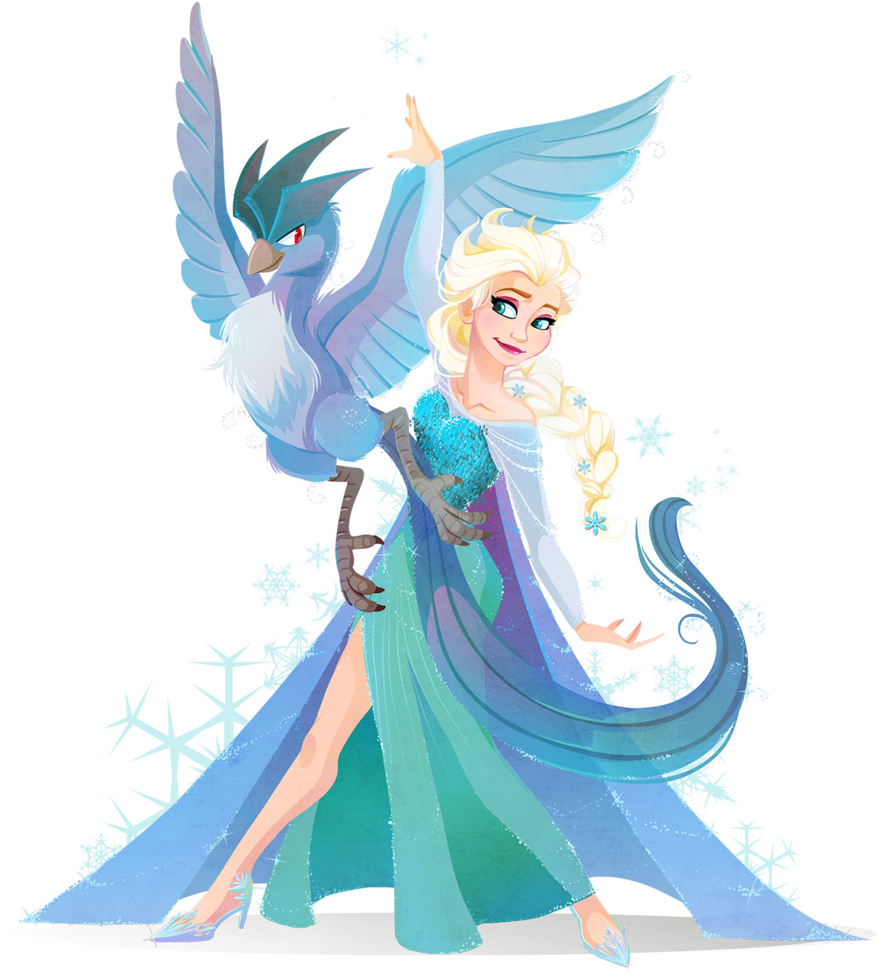 Download Hd Elsa And A Pokemon By Krista From Her Kuitsuku Sketch Disney Characters Meet Pokemon Transparent Png Image Nicepng Com
