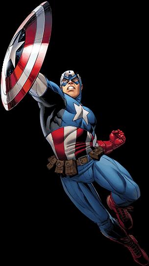Download HD Comic Captain America - Wall Sticker Wall Tattoo