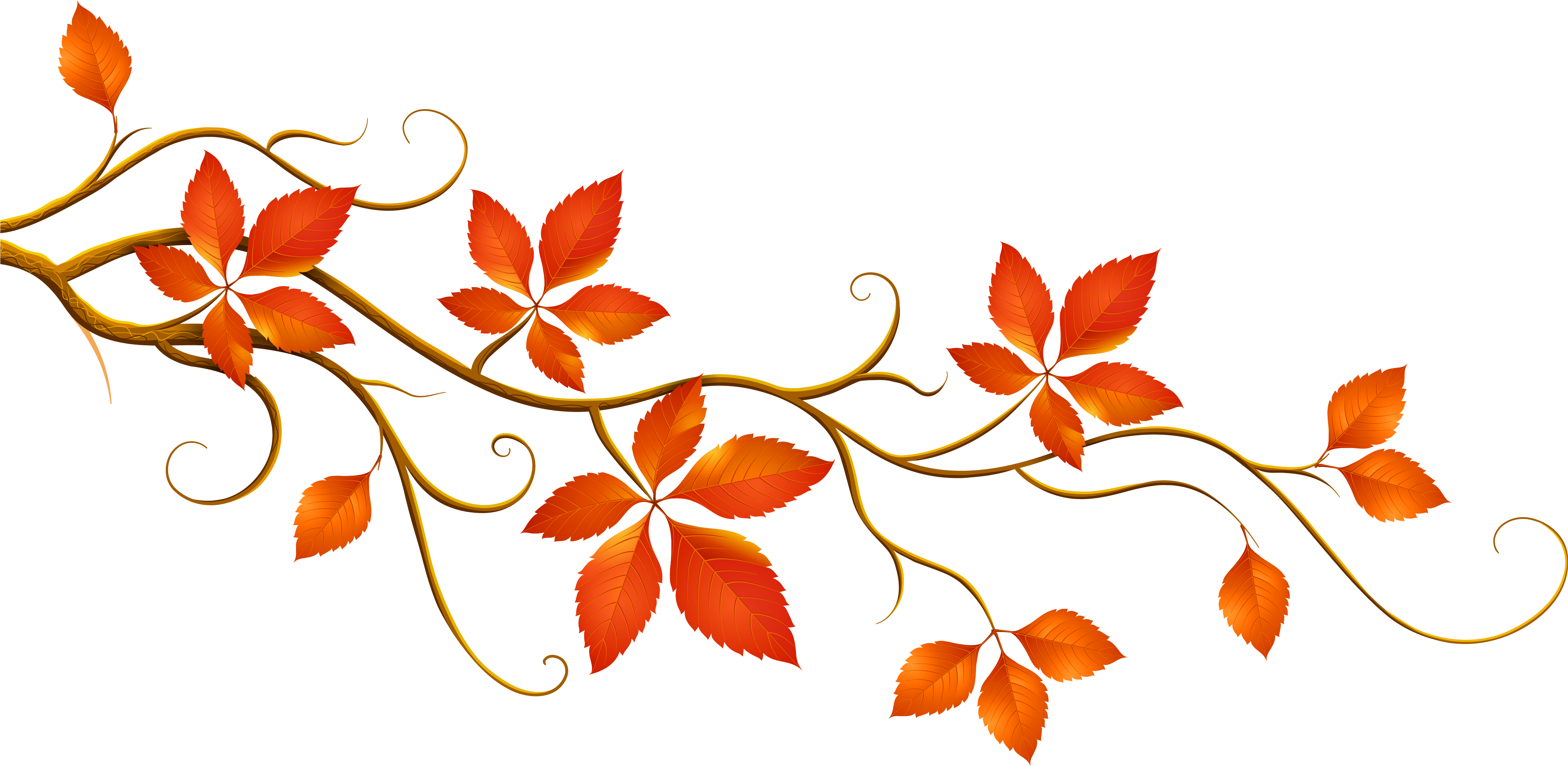 Download Hd Decorative Branch With Autumn Leaves Png Clipart Fall Tree Branch Clip Art Transparent Png Image Nicepng Com
