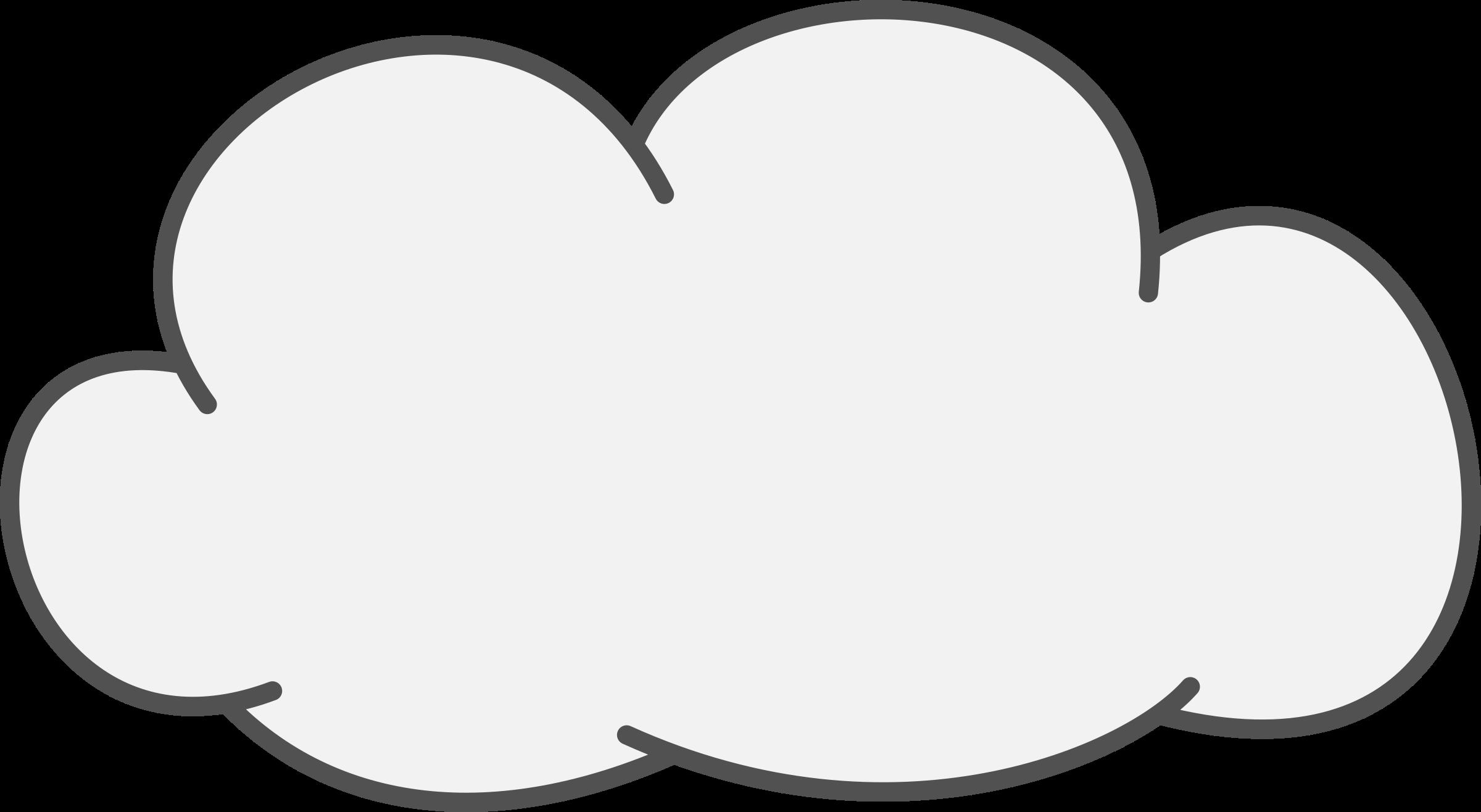 Download Cumulus Cloud Icons Png - Cloud Clipart Black ...