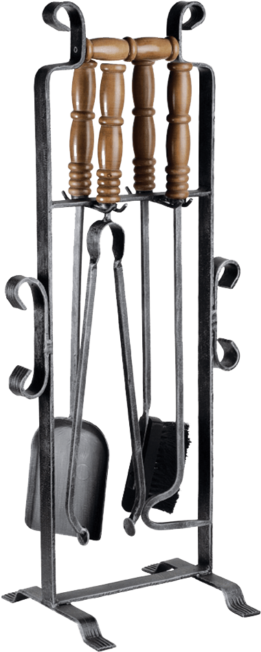 Download Hd 4pc Wrought Iron Wood Handle Tool Set Fireplace