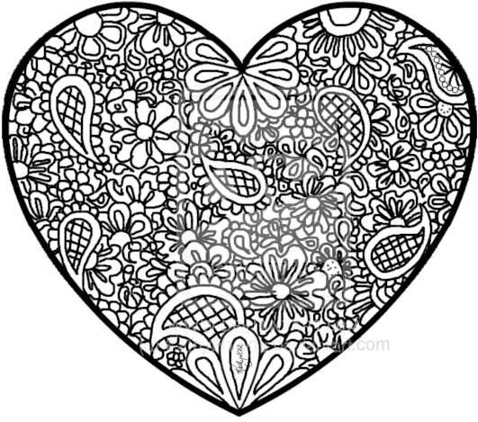 - Download HD Transparent Stock Doodle Art Coloring Pages Zentangle -  Abstract Heart Coloring Pages Transparent PNG Image - NicePNG.com
