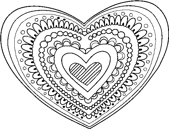 Download Hd Heart Mandala Coloring Pages 6 Zentangle Heart Coloring Page Transparent Png Image Nicepng Com