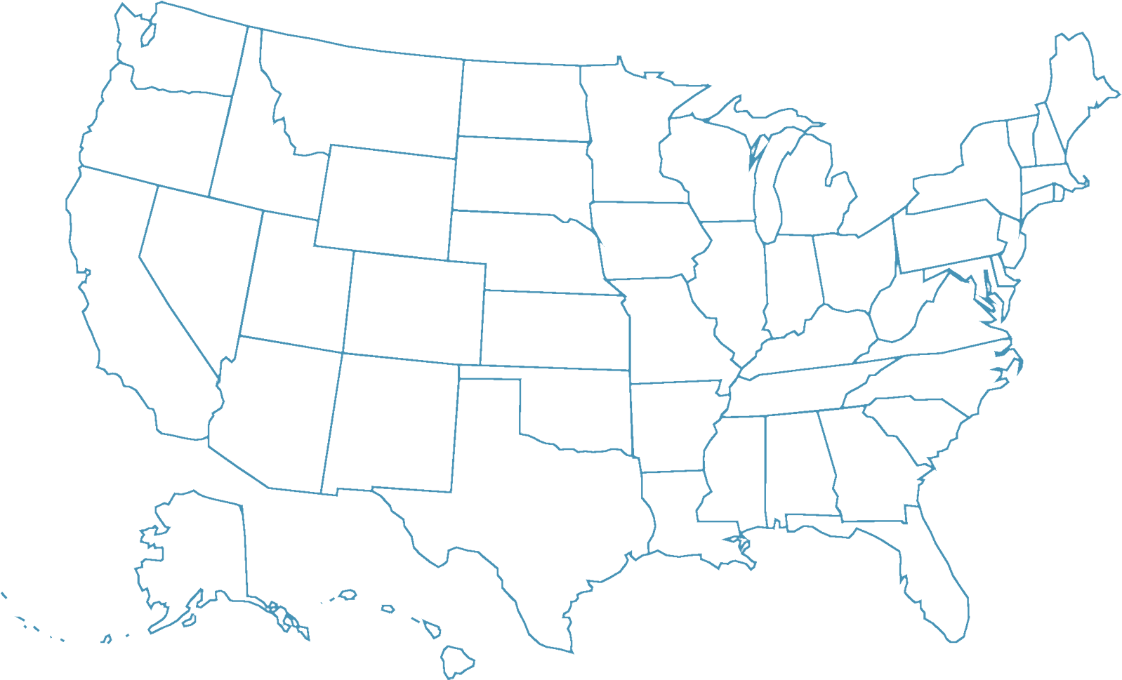 Us Map Not Labeled Download HD Map outline   Usa States Not Labeled Transparent PNG
