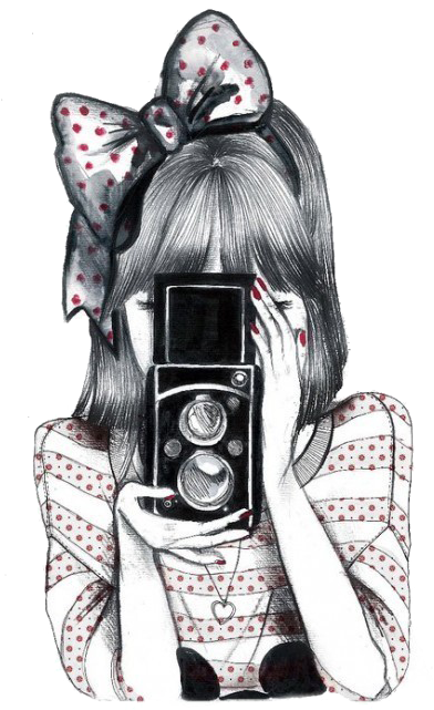 Download Hd Imagens Fofas Tumblr Desenho Png Girl With Camera