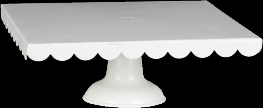 Download Hd Scalloped White Square Pedestal Coffee Table
