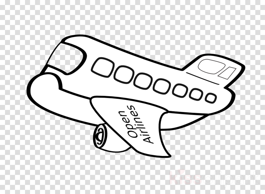 Download Hd Black And White Airplane Clipart Airplane Aircraft