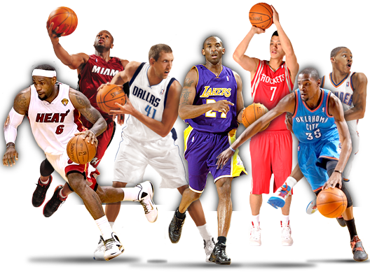 Sports Stars Png - Nba Basketball Players Png (528x392), Png Download